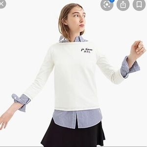 NWT JCrew boatneck sweater t-shirt sz S